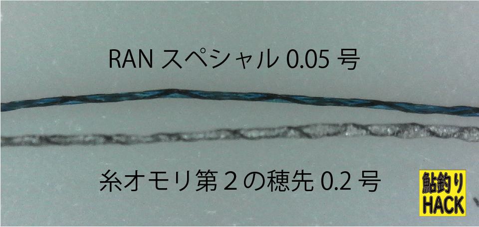糸オモリ第2の穂先拡大画像
