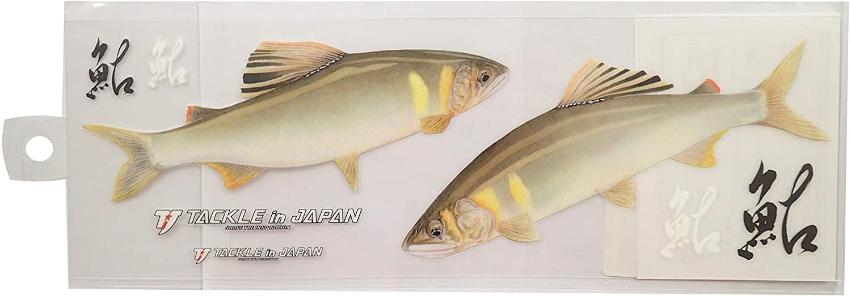 タックルインジャパン ハード転写ステッカー リアル鮎 ラージサイズ